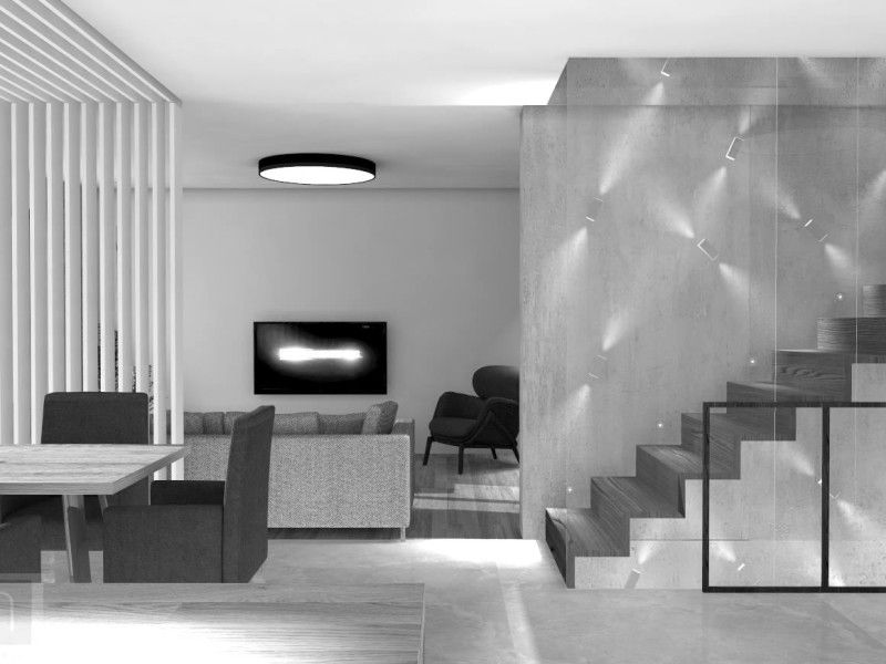 Projekt parteru domu w Margoninie